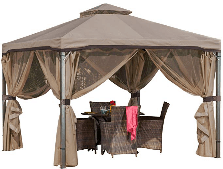 GDF Sonoma Outdoor Gazebo with Net Drapery
